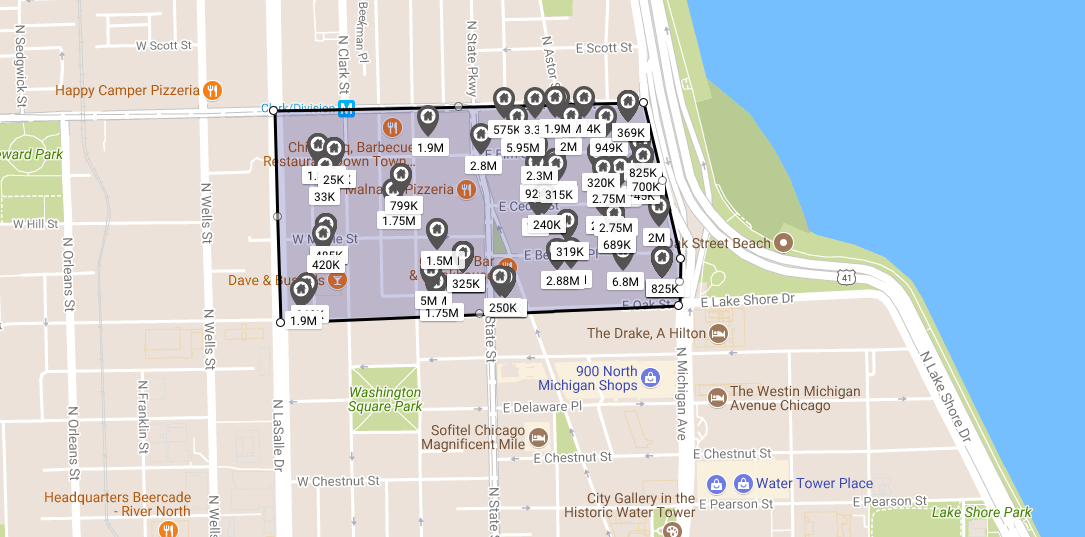 chicago gold coast viagra triangle real estate