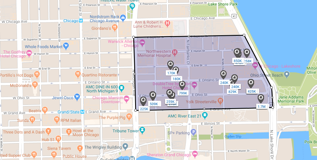chicago streeterville central district real estate