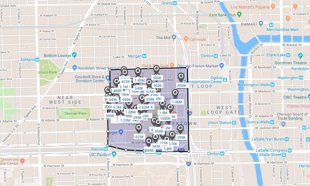 chicago west loop central loft district real estate