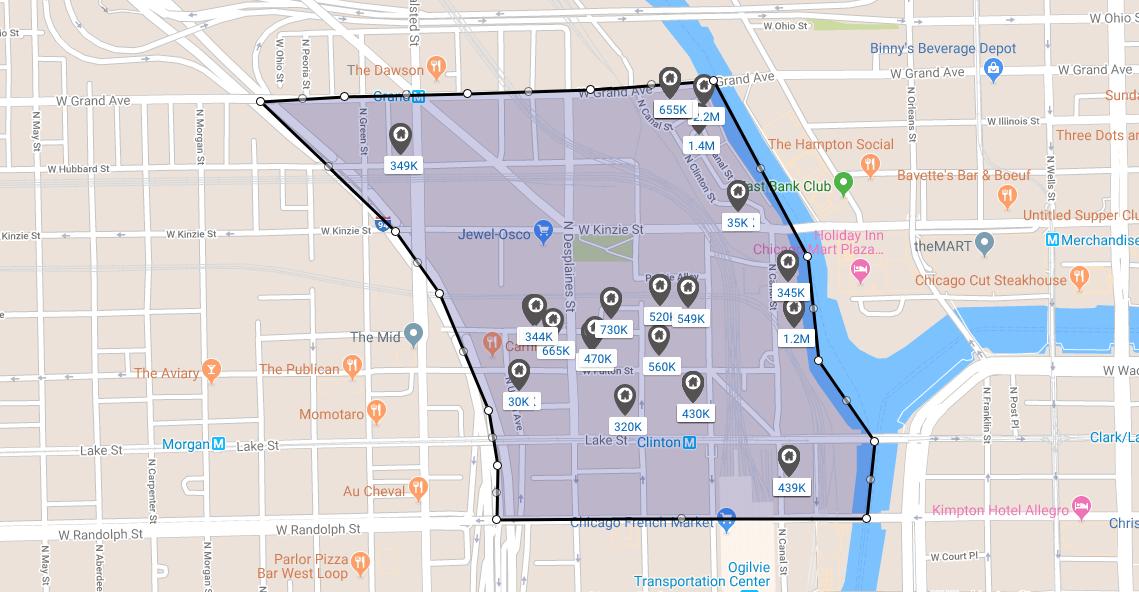 chicago west loop fulton river district real estate
