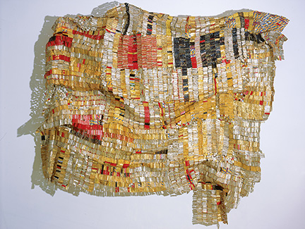 El Anatsui sculpture at the Harn Museum in Gainesville, Florida
