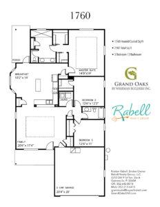 Grand Oaks Floor Plans - Weseman Builders 1760
