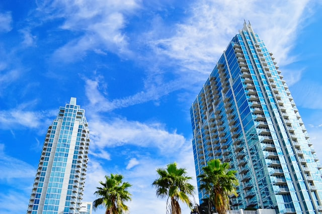 Luxury condos, downtown Tampa