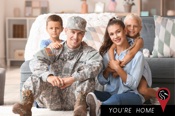 Happy Military Family at Home