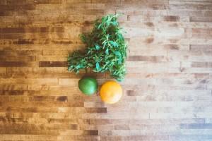 lemon lime and herbs
