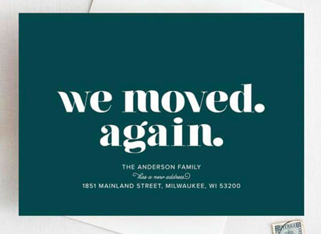 creative ways to say we've moved
