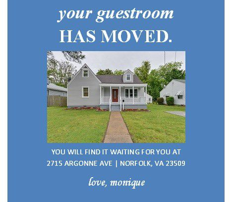 Creative moving announcement.