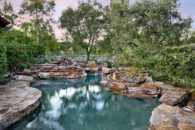 Incredible Custom Pools and Spas rustic-pool