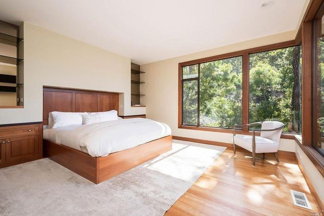 Main bed Wilson Home in Marin County