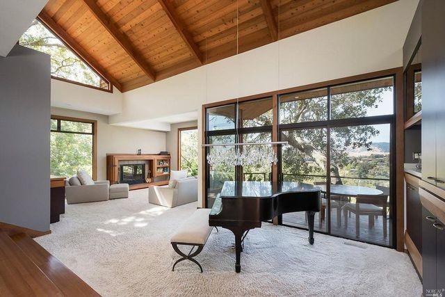 Living room in Wilson home in San Rafael