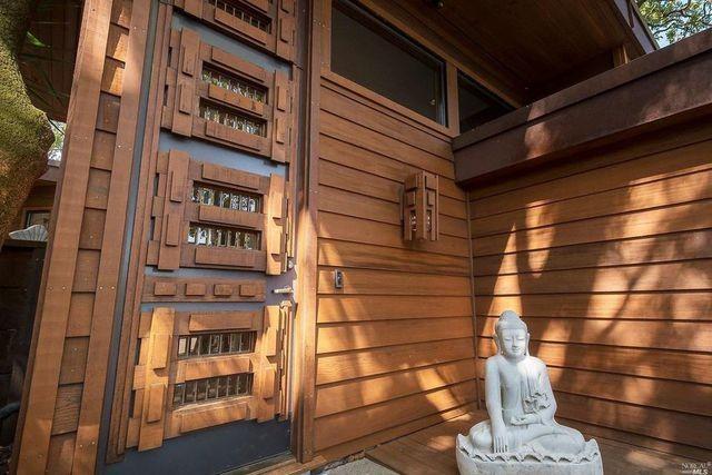 Hand carved front door