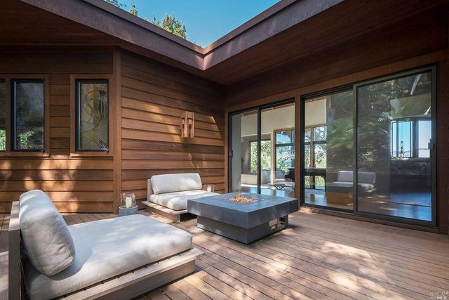 Deck in Marin County home