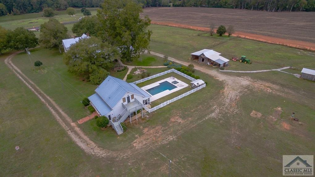 Aerial view of farmhouse in Newborn, GA.
