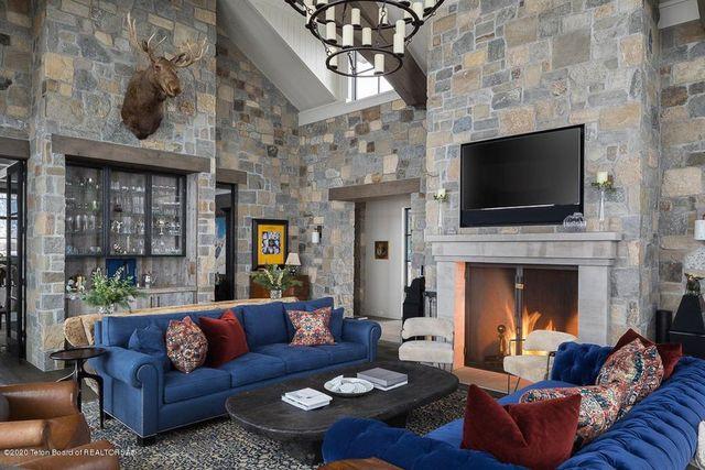 Jackson Hole estate family room