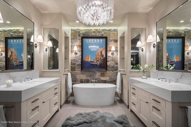 Owner's suite bathroom Jackson Hole WY