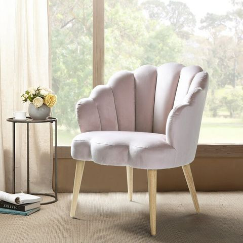 Scalloped arm chair