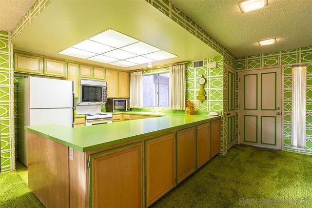 Kitchen vintage green condo