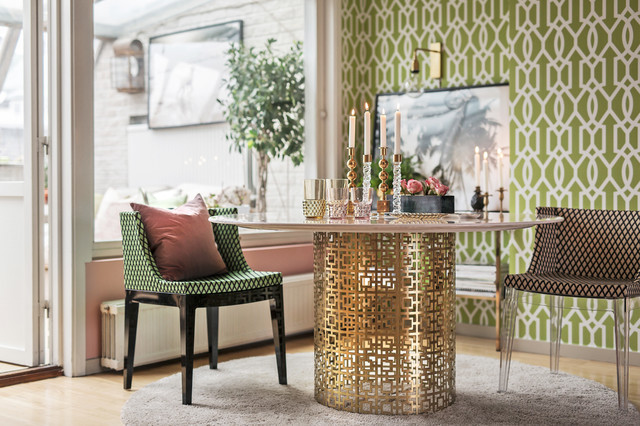 Houzz reportage - Hemma hos Andra Brodin eclectic-dining-room