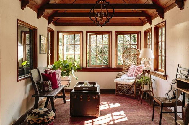 A sunroom in the $2 million Mill Valley, Calif., home of Paul and Reny Huelskamp.