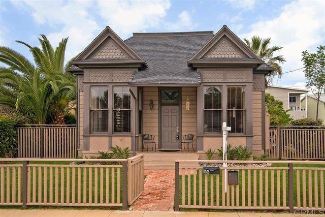 Oceanside, CA beach house victorian exterior