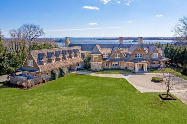 Riverside CT mansion exterior