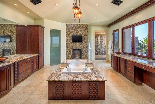 Owner's suite bathroom Mike Love house Rancho Santa Fe