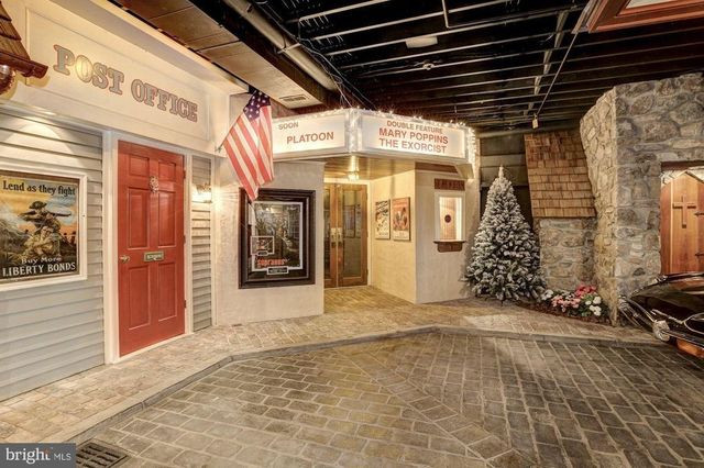Basement town movie theater