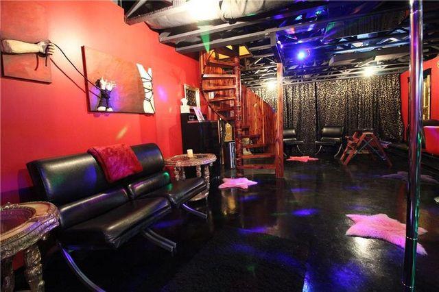 Entertainer's pole BDSM house
