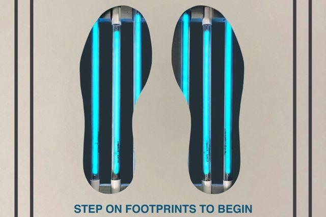 PathO3Gen Solutions offers a footwear-sanitizing station, $22,542.