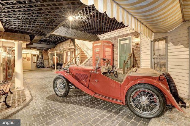 Basement town antique car
