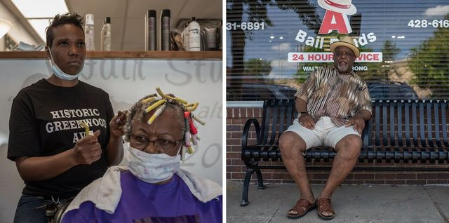 Left: Tori Tyson, owner of Blow Out Hair Salon. Right: Walter Armstrong is the owner of Big 'A' Bail Bonds, in Greenwood.