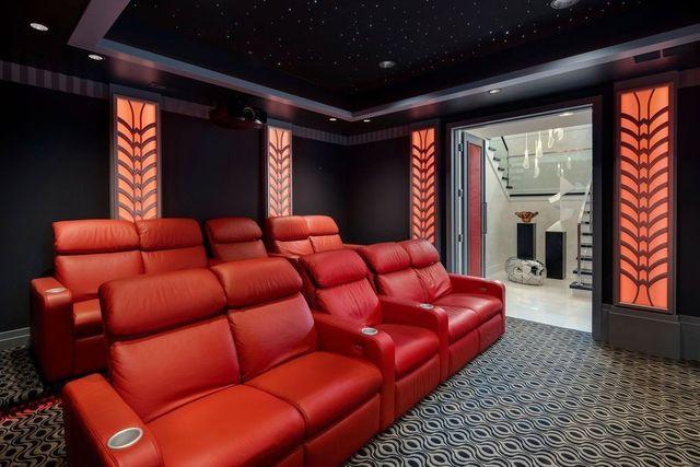 Home theater Felix Hernandez mansion