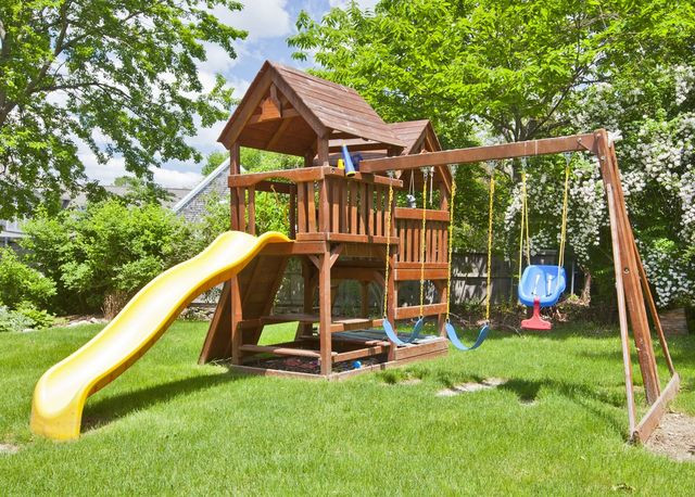Backyard swingset