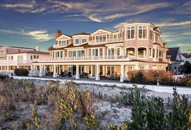 Ocean City NJ mansion on beach exterior