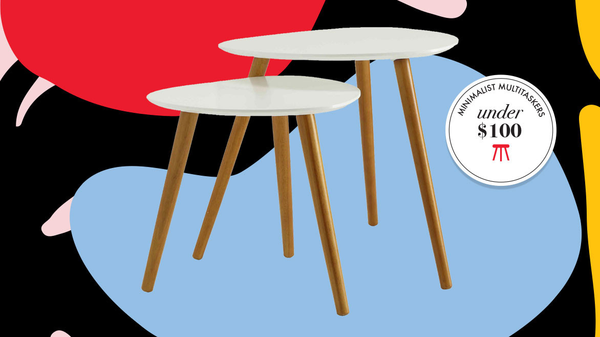 mid-century inspired nesting tables from walmart