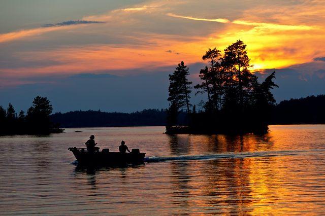 Fishing on Burntside Lake in Ely, MN.