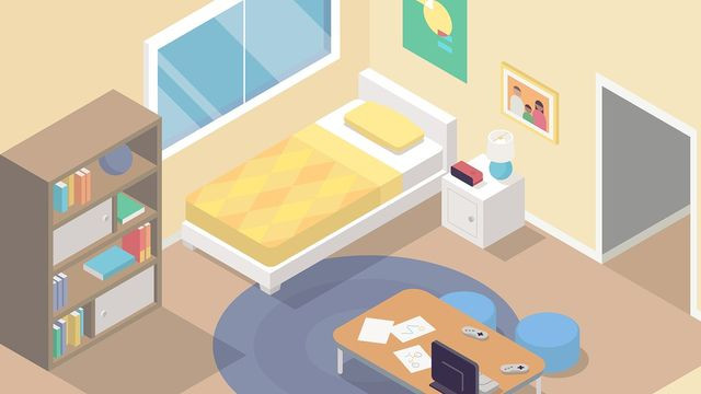 kids bedroom with gaming console