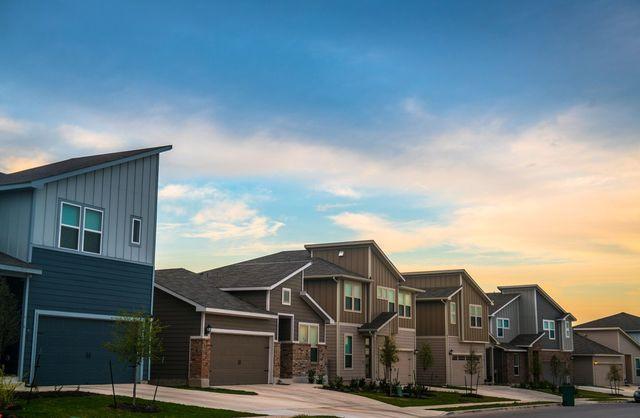 A suburban development in Austin, TX.