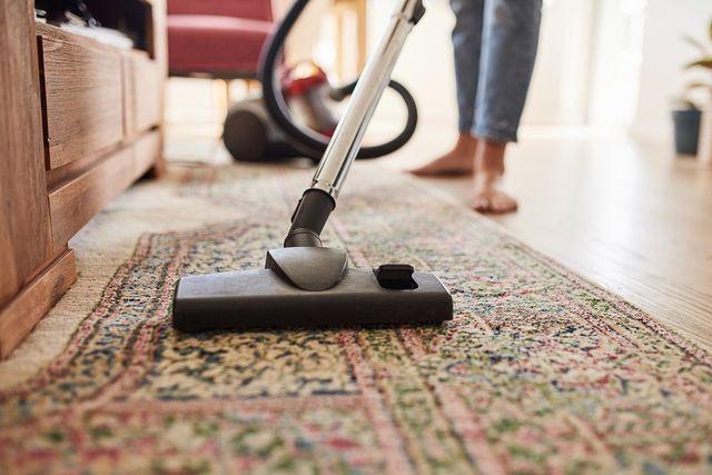 Vaccuming rug