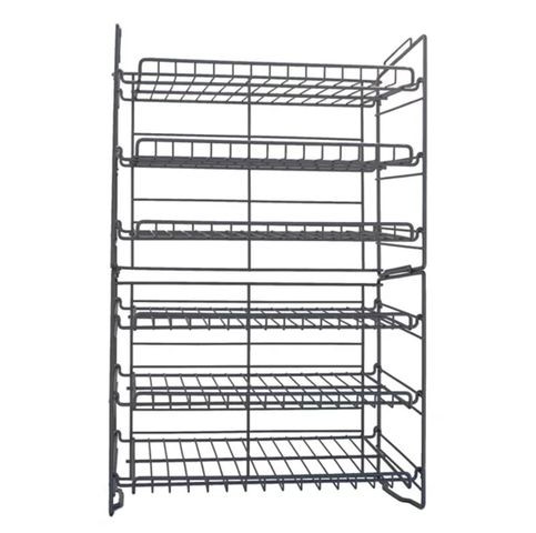 Six-tier double can racks