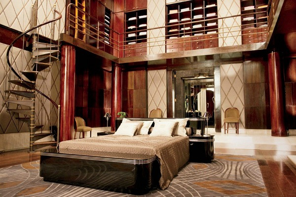 Jay's bedroom in 'The Great Gatsby'