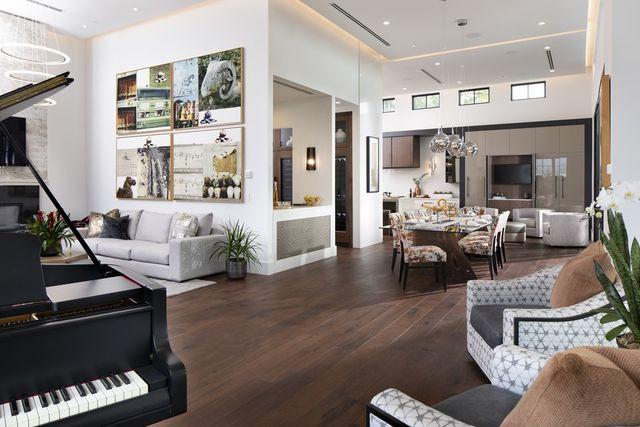 walnut flooring, The New American Home