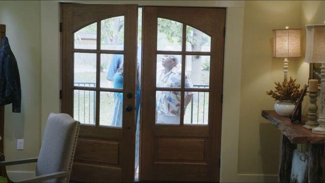 rounded door windows