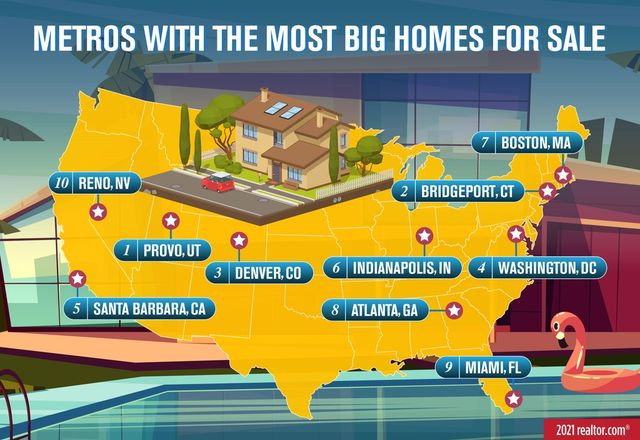 Map: where the most big homes are