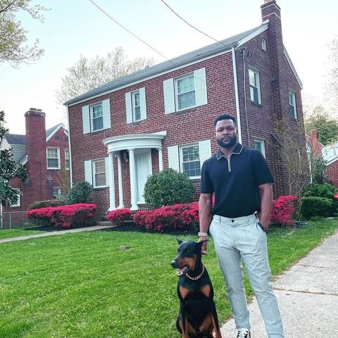 Terrance Leonard, pictured in front of the home he recently bought in Washington, D.C.