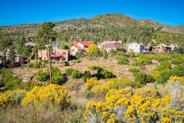 A residential neighborhood in Los Alamos, NM.