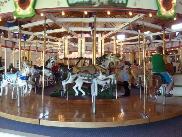 This historic carousel is a town treasure.