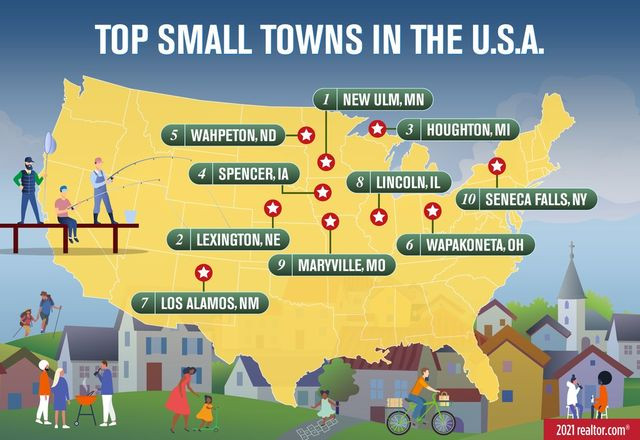 Map: Top small towns in the U.S.A.