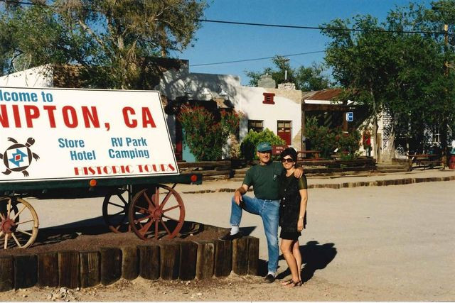 Roxanne Lang and Jerry Freeman, in an undated photo, bought Nipton in 1985.