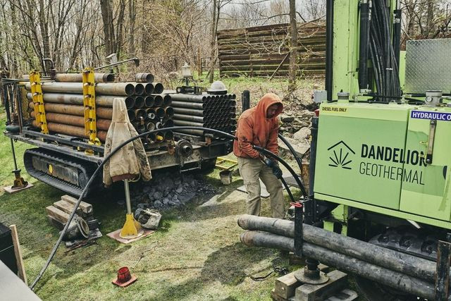 A geothermal installation in Otisville, N.Y.